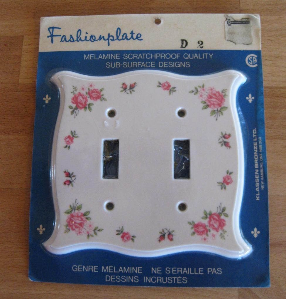 Floral switch plate