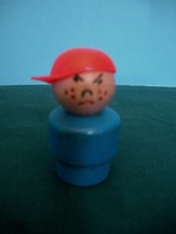 VTG FISHER PRICE LITTLE PEOPLE SCHOOL BUS BULLY W/RED CAP image 3