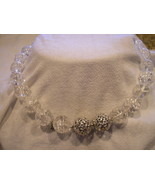 Yurman 18in Rutilated 16mm Crystal Beads Necklace & 2 Silver Diamond Clasps - $1,885.00