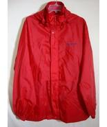 SPEEDO Windbreaker Red Nylon Jacket Zip Front HOODIE Lightweight Men Med... - $29.69
