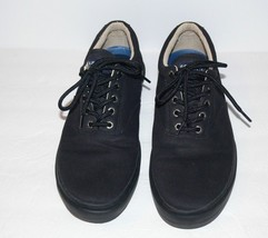 Sperry Mens Top-Sider  Canvas Casual Halyard Sneakers Shoes Black Size 1... - $34.99
