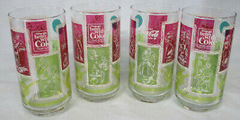 Coke Stained Glass 1960's Activity Set of 4 - $94.93