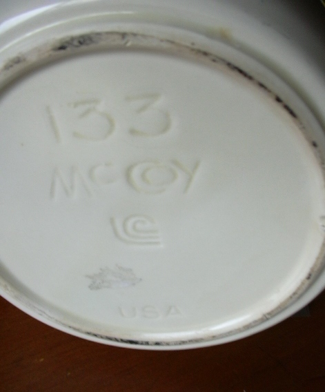 McCoy pottery -- 2 items; stamped