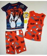 Penguins of Madagascar 3 Piece Sleepwear Set Pajamas Size 4  - $6.79