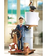 Sea Captain Nautical Toilet paper Holder, Heavy - $22.95
