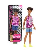 "Yr 2018 Fashionistas 12"" Doll #128 African American Barbie Good Vibes On... - $24.99"