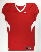 Under Armour Performance Vented Havoc Game Football Jersey Men's XL Red ... - $25.73