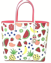 NWT Kate Spade Len How Refreshing Large Tote / Shopper Fruit Medley MSRP... - $163.35