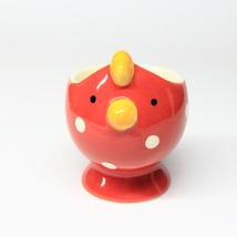 Animal Ceramic 1 pcs Red Chicken Egg Cup Cerami... - $14.90