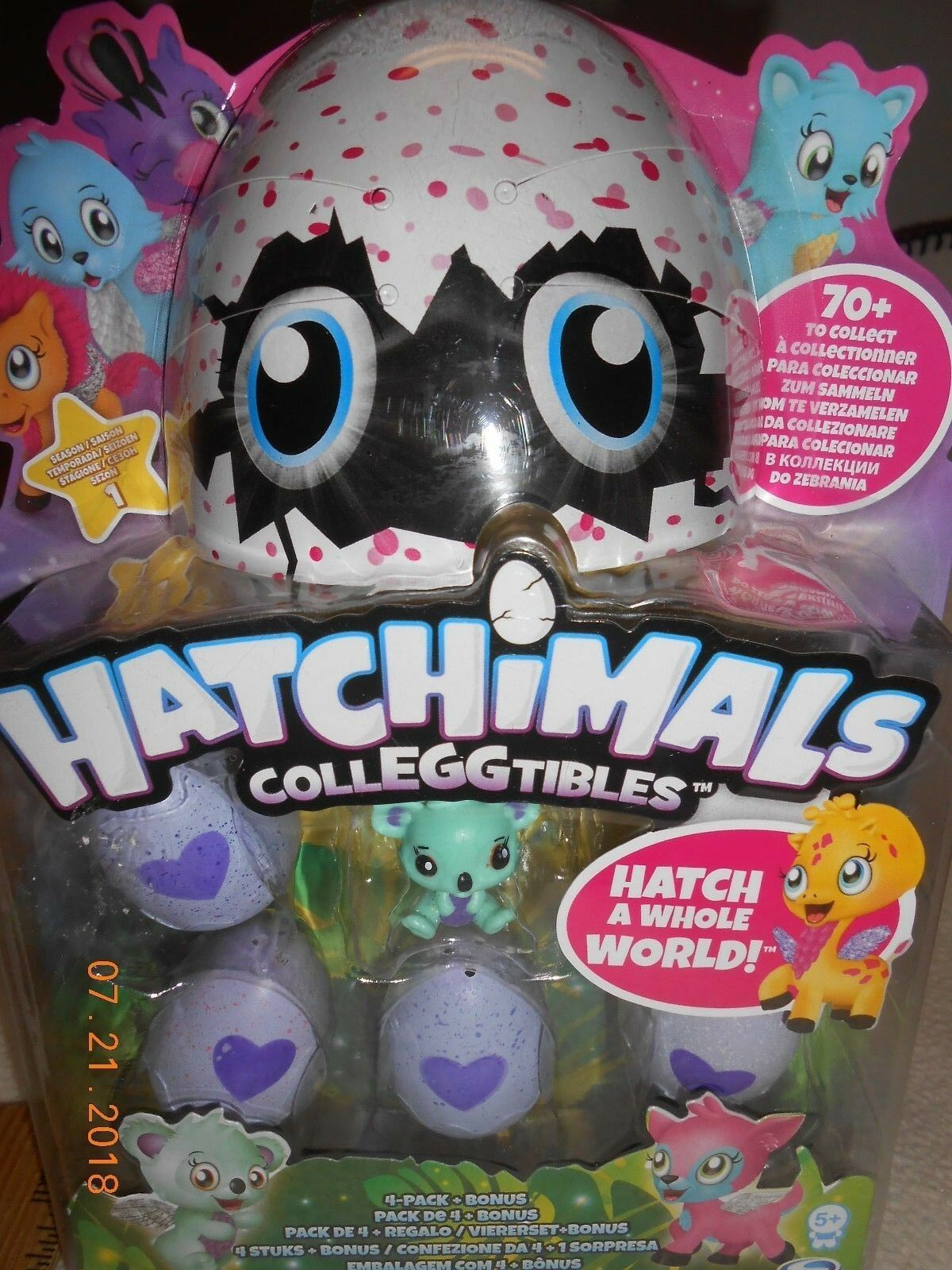 NEW Hatchimals Colleggtibles Mini 4 Pack Bonus Hatchimal Season 1 Easter Gift