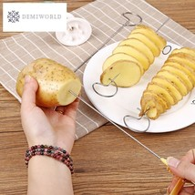 1PC Stainless steel Potato Spiral Cutter Spiral Potato Chips 4spits Pota... - $8.84