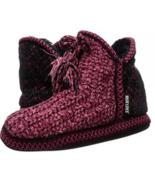Muk Luks Mollie Pink Knit Slippers Women's XL 11-12 Knit Ankle Bootie Ho... - $48.33