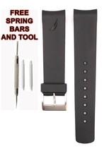 Compatible Nautica A20059G 22mm Noir Diver Rubber Bracelet Montre NTC102 - $24.80