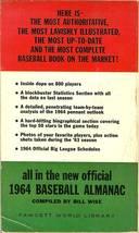 1964 official baseball almanac dodger sandy koufax on cover image 2