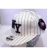 Brand New, Pin Stripe White New York Baseball Caps by City Big - Extra L... - $3.95