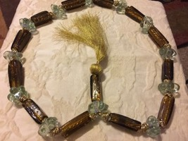 Vintage Glass & Resin Tie Back? Heavy Glass Tub... - $16.99