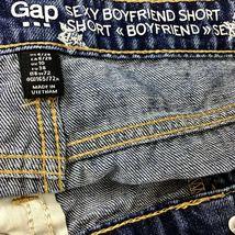 GAP Womens Sz 6/28 Sexy Boyfriend Fit Shorts Cut-Off Patriotic Stars Denim Jean image 3