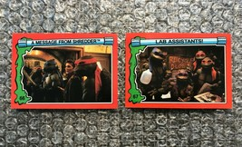 1991 Topps Teenage Mutant Ninja Turtles TMNT II Movie Cards Lot: #66 & #67 - $3.92