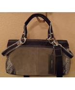 NWT BCBG MAXAZRIA Gray Suede Leather Satchel Crossbody Bag NEW (MAKE AN ... - $227.30