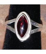 Rhodolite Garnet Silver handmade gemstone ring size 6 #026 - $30.00