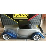 1934 Roadster FORD CABRIOLET #8009 SOLIDO PRESTIGE Silver & Blue Car wit... - $36.99