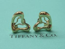 Tiffany & Co Elsa Peretti 18Kt Heart Huggie Yellow Gold Earrings 17mm - $1,831.50