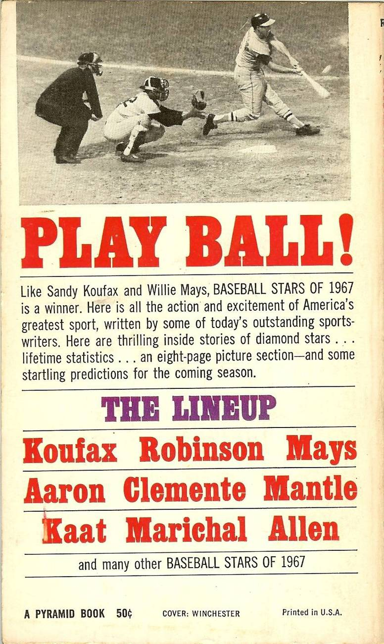 baseball stars of 1967 sandy koufax frank robinson on the cover image 2