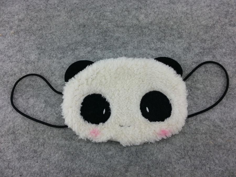 Cute Kawaii Winter Warm Face Mask Anime Animal Soft Plush Panda Half Face Mask 1