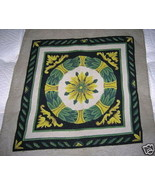 Antique Art Deco Needlepoint Chair Cover Embroidery - $75.00