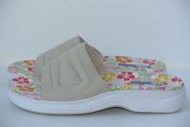 Keds Womens Sz 10 M Khaki Multi Color Canvas Slides Sandals WORN ONCE!! - $24.74