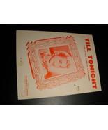 Sheet Music Till Tonight Dee Clifford Bob and Gloria Wilson 1940 Village... - $8.99