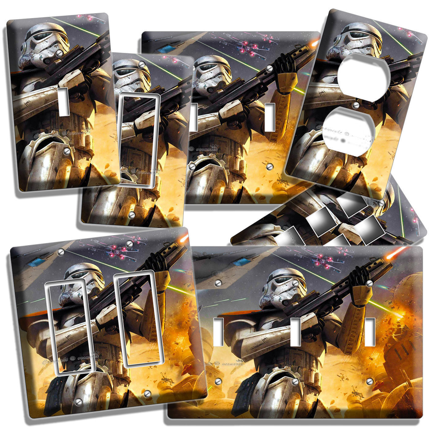 Primary image for STAR WARS STORMTROOPER LIGHT SWITCH OUTLET WALL PLATE COVER BOYS STORM TROOPER