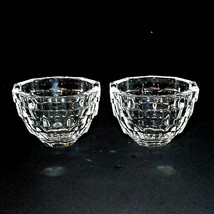"2 (Two) KOSTA BODA OPUS Cut Crystal 4"" Bowls Made in Sweden Signed-DISCO... - $50.34"