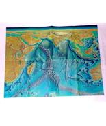 ORIGINAL Vintage 1967 Indian Ocean Floor 19x25 National Geographic Map - $18.49