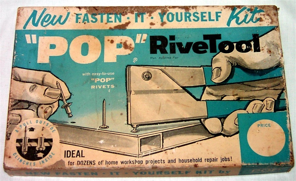 "Vintage ""POP"" RiveTool Kit From the '60's by USM"