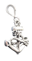 Anchor  Pendant Charm Small size  Sterling silver MS080 - $9.50