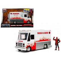 Deadpool Taco Truck with Deadpool Diecast Figure Marvel Series Diecast M... - $56.12