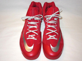 Nike Zoom Hyperelite US 18 Red White Silver Low Tops Basketball #685779-603 - $59.83