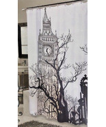 """Big Ben Shower Curtain Fabric London New 70""""x72"""" NEW Water Repellent - $29.58"""