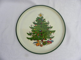 Vintage Plastic Christmas Cookie Tray w/Christmas Tree & Presents marked... - $4.99