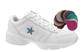 New Converse Dismount 2 Ox Cheer Shoe 508474 White W/ Color Inserts Size 4.5 - $34.99