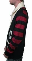 Crooks & Castles Knit Air Guns Shawl Collar Black/Scarlet Cardigan Sweater S NWT image 2