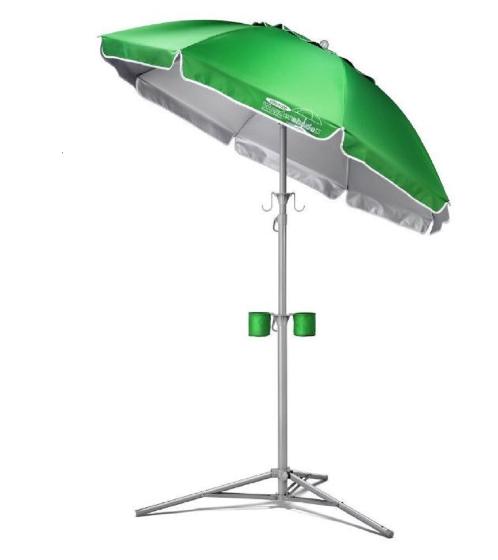 Portable sun shade green