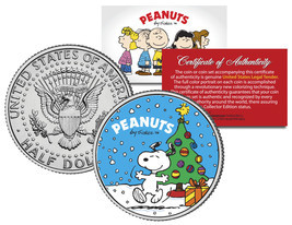 "Peanuts ""Snoopy with Christmas Tree"" JFK Half Dollar U.S. Coin *Licensed* - $8.86"