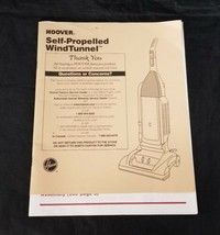 Hoover Self Propelled WindTunnel Vacuum Cleaner Owner's Manual U6471-900 - $12.84