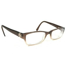 Tory Burch Eyeglasses Frames Clear Brown Cream Rectangular Logos TY2003 858 - $28.05