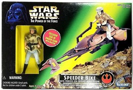 Star Wars Power of the Force Speeder Bike w/Princess Leia Organa Endor 1997 NEW - $10.99