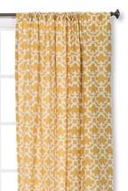 "NEW 1 Window Panel Farrah Fretwork Yellow Curtain (54""X95"")- Threshold Nwop - $15.29"