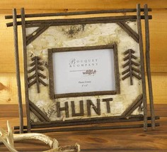 Birch and Twig 'Hunt' Picture Frame Hunters Father's Day Gift Idea Memor... - $36.58