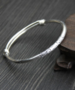 sterling silver bangle, bangle bracelet, silver bracelet, tribal, B204 - $84.99